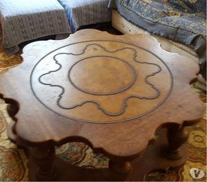 Mesa de Centro com 2 mesas laterais em Madeira de Lei