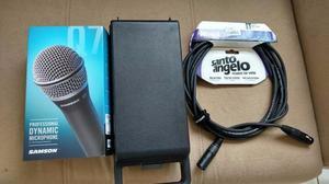 Microfone Samson Q7 e Cabo XLR Santo Ângelo
