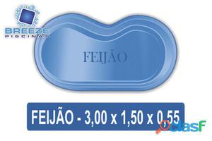Piscina de Fibra Modelo Feijão