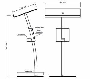Púlpito Modelo da Igreha Hillsong - Púlpito Inox e