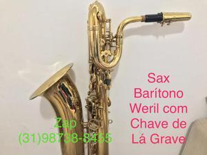 Sax Barítono Mib com Lá Grave Weril