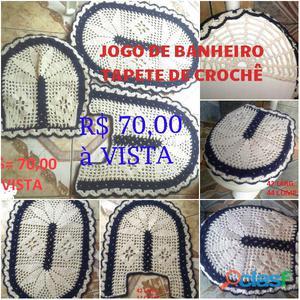 TAPETE DE CROCHÊ PARA BANHEIRO 100% ARTESANAL