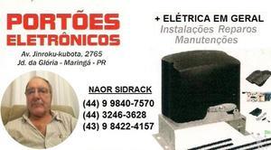 eletricista em geral manutenção e instalação de portão