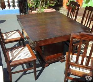 mesa de jantar com 6 cadeiras padra imbuia