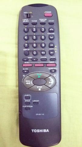 Controle Remoto Original para TV/Vídeo Cassete Toshiba
