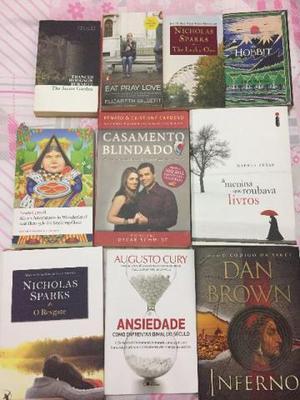 Conjunto de livros diversos