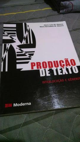 Livro Produção de Texto Editora Moderna