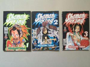 Mangás Shaman King volumes 1 a 3