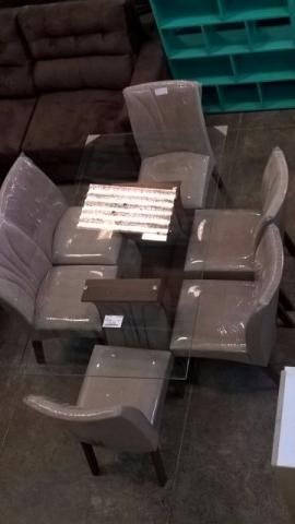 Mesa de vidro 6 cadeiras/ novo e embalado