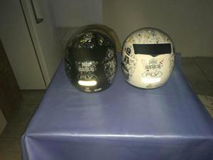 2 capacetes fly zerados troco os dois por violão
