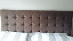 Cabeceira para cama box m cor mogno apenas posot class for Tipos de camas queen