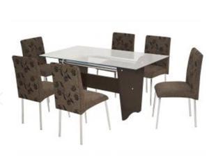 Conjunto mesa de jantar 6 lugares