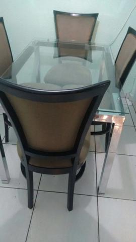 Mesa 4 cadeira novinha