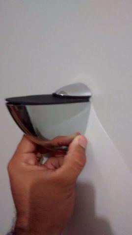 Suporte tucano inox para prateleiras de vidro de 5