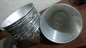 Kit com 15 baldes aluminio 8 ltrs
