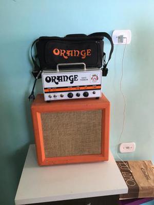 Amplificador valvulado orange + caixa
