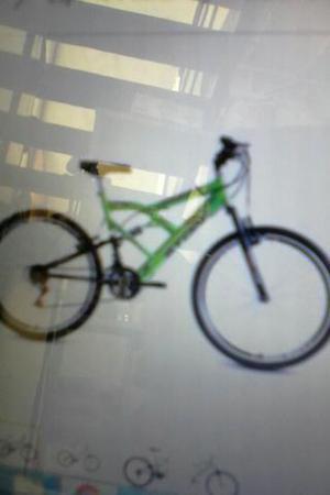 Bicicleta canguru verde limao