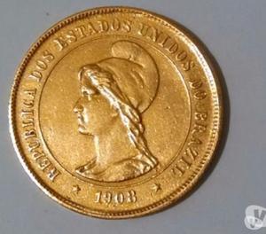 Compro Moedas de Ouro do Brasil Anteriores ao ano
