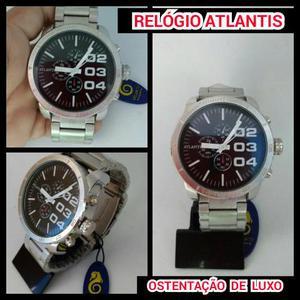 2463561bb8f Relógio atlantis masculino primeira linha ostentação de