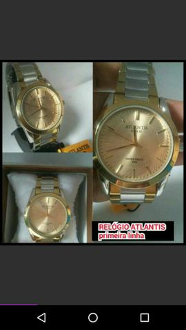 3bdea423a40 Relógio atlantis masculino primeira linha.(prova d água