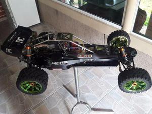 Automodelo Baja RC 1/5 KM 30CC Top com Upgrades Oportunidade