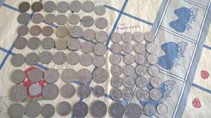 Lote com 96 moedas antigas e algumas raras
