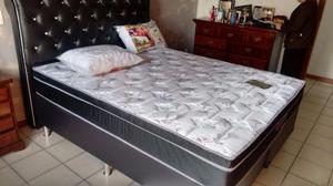 :::>> Conj Cama Box Casal Colchão Ultra Flex 138x188 Molas
