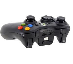 Controle original sem fio preto do Xbox 360 em bom estado