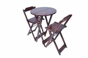 Jogos De Mesa Bar Bistrô Dobrável 2 Cadeiras