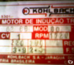 Motor 1 CV  rpm 220 trifasico
