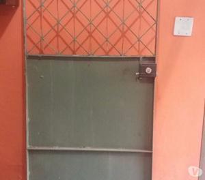Portão duplo de Garagem de correr e portão social
