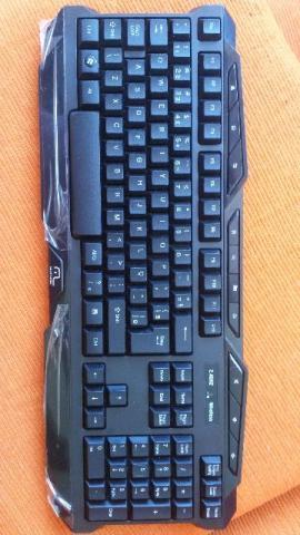 Teclado Sem Fio Gamer Multilaser 2.4ghz. Tc166 Nf