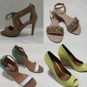 Lote com 13 pares de sapatos femininos 39 novos