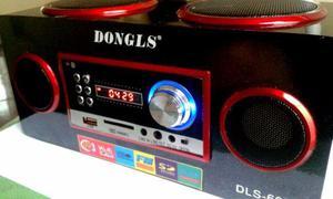 Mini Caixa De Som Portatil Dongls Dls-607 Fm -usb - Sd
