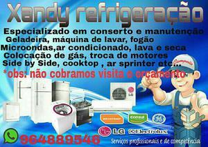 Técnico de geladeira, ar condicionado, máquina de lavar e