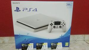 PS4 SLIM 500GB GLACIER WHITE ! Lançamento! Aceitamos