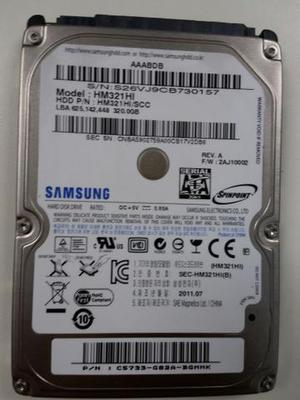 Hd para notebook Samsung de 320gb