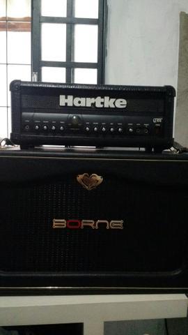 Amplificador Head Hartke Gt60 pré valvulado + Caixa passiva
