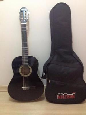 Violão Giannini GCX-15bk nylon + capa preta estofada +