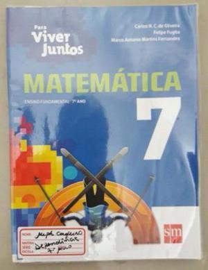 Livro de Matematica Para Viver Juntos 7 Ano - Ed SM Edição