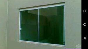 Janela, porta, portão, grade de alumínio, box, varanda,