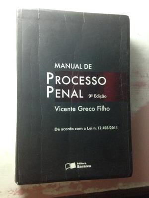 LIVRO DIREITO MANUAL de PROCESSO PENAL VICENTE GRECO FILHO