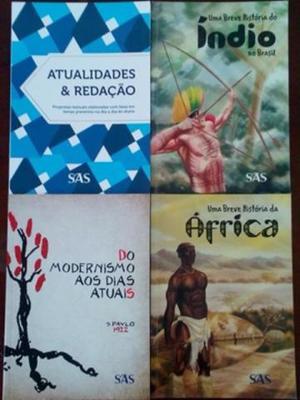Livros Enem SAS, Literatura, Redação e História (novos)