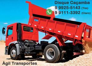 Disque Caçamba - Areia, Brita, Aterro, Cascalho, Racha,