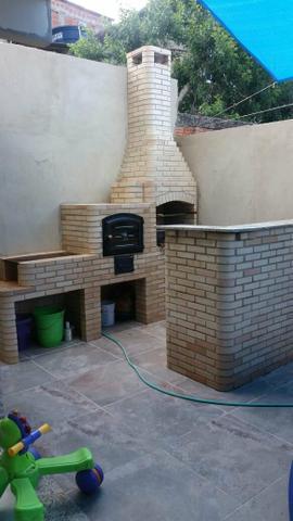 Imperdível promoção de churrasqueira com telhado