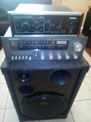 Receiver,Amplificador e Caixa de Som