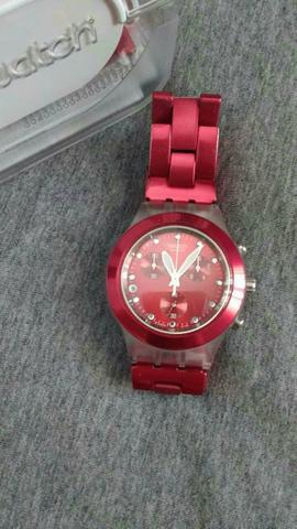 982e0a537ee Relogio swatch irony diaphane rosa