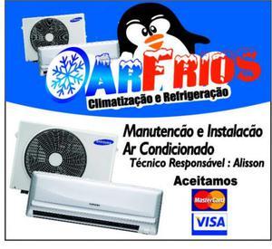 Instalação manutenção e higienização de varias marcas