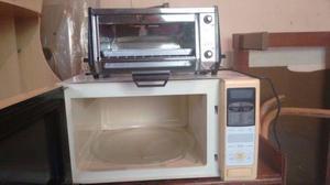 Mini forno elétrico e microondas