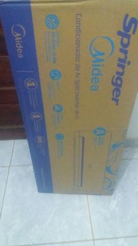 Promoção ar-condicionado novo zero na caixa